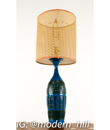Mid-Century Blue Table Lamp