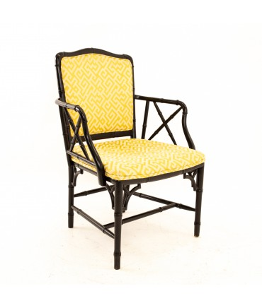 McGuire Style Mid Century Bamboo Occasional Chair