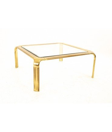 Mastercraft Brass Mid Century Coffee Table