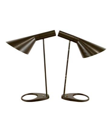 Original Arne Jacobsen AJ Lamps for Louis Poulsen - Pair