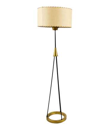 Gerald Thurston Brass and Iron Floor Lamp