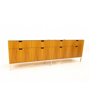 Florence Knoll Mid Century Modern White Marble Top Sideboard Credenza