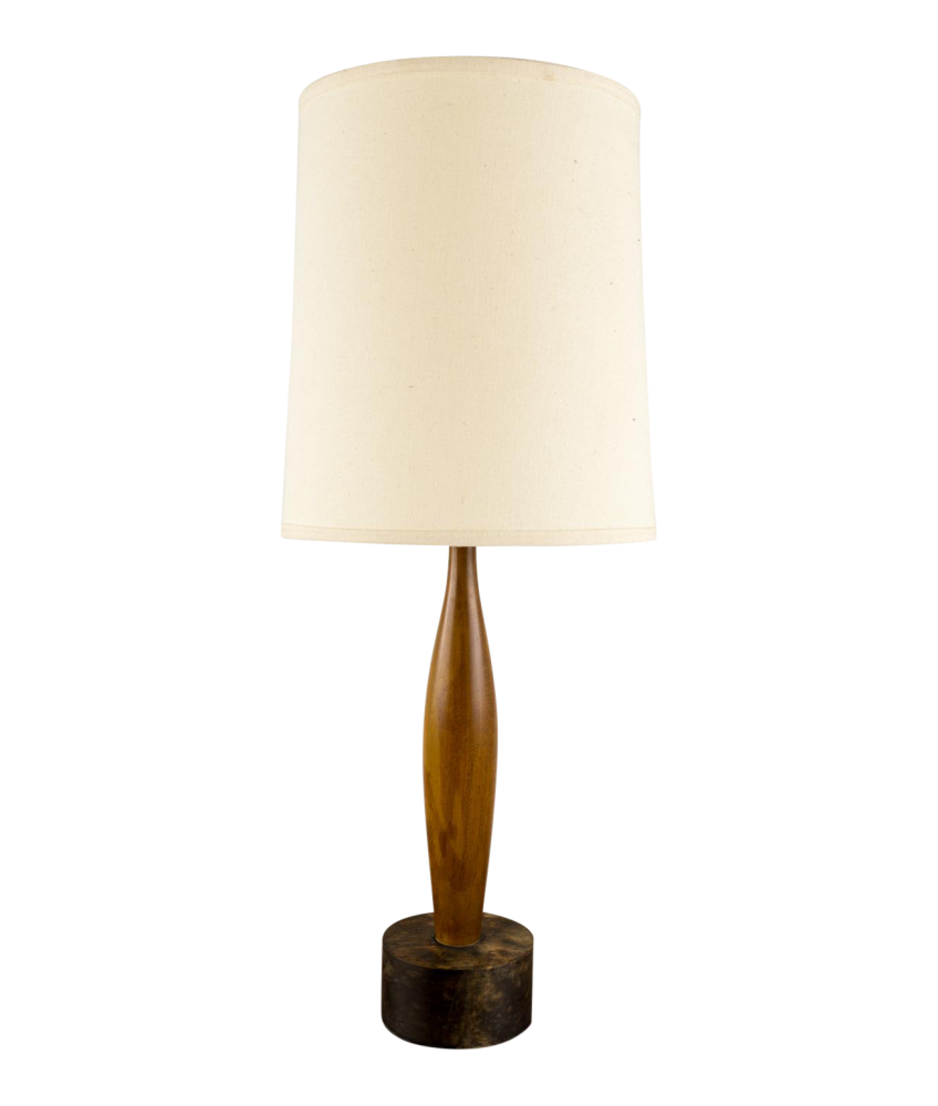 Mid-Century Bowling Pin Table Lamp