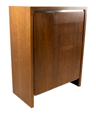 Milo Baughman for Dillingham Armoire Chest of Drawers Highboy