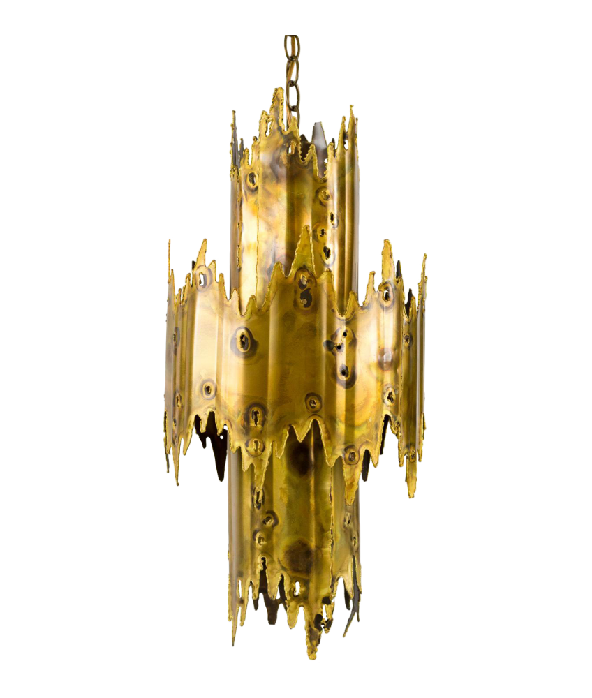 Tom Greene for Feldman Co Brutalist Chandelier