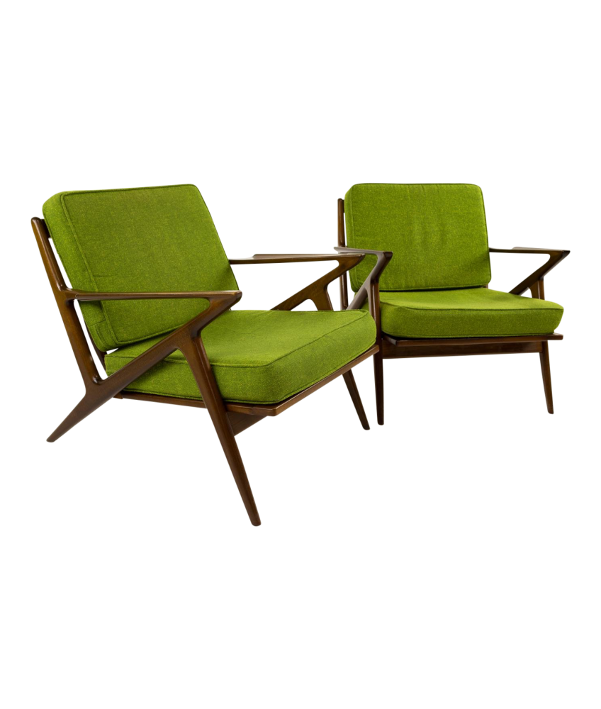 Kofod Larsen for Selig Z Chairs - Pair