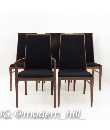 Foster McDavid Mid Century Walnut Dining Chairs - Set of 5