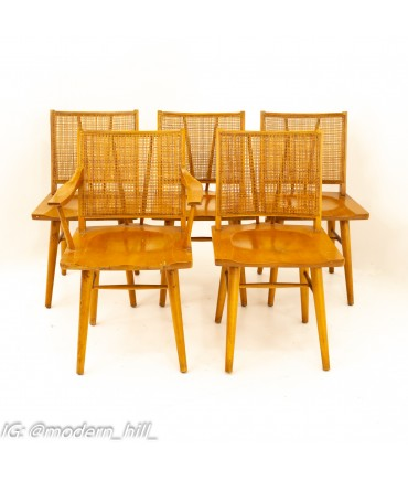 Russel Wright for Conant Ball Mid Century Dining Chairs - Set of 5