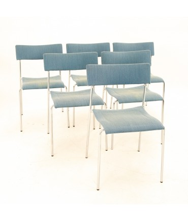 Johannes Foersom for Lammhults Mid Century Campus Stackable Dining Chairs - Set of 6