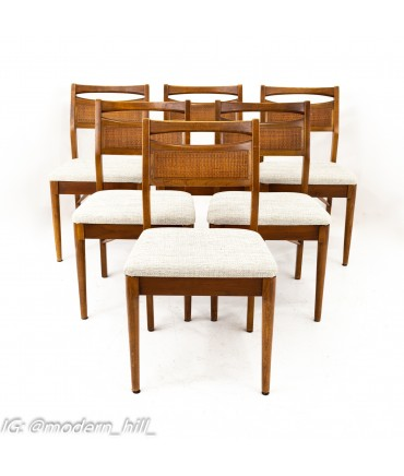 American of Martinsville Mid Century Cane Back Dining Chairs - Set of 6