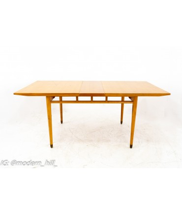 Milo Baughman for Drexel Todays Living Mid Century Blonde Dining Table