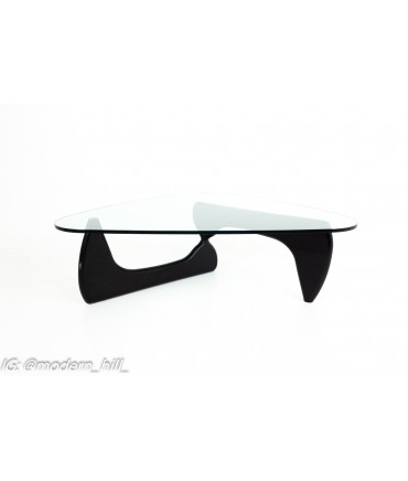 Herman Miller for Knoll Mid Century Ebonized Wood and Glass Coffee Table
