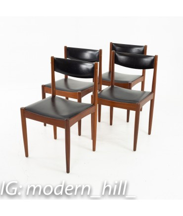 Mid Century Danish Furniture Makers Control Walnut Dining Chairs - Set of 6