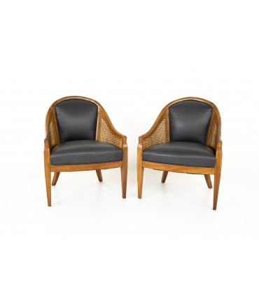 Mid Century Cane Chairs - Pair