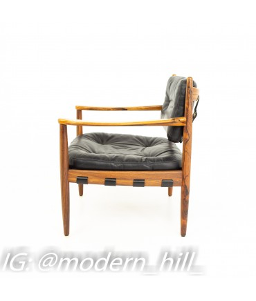 Arne Norell Midcentury Rosewood Lounge Chair