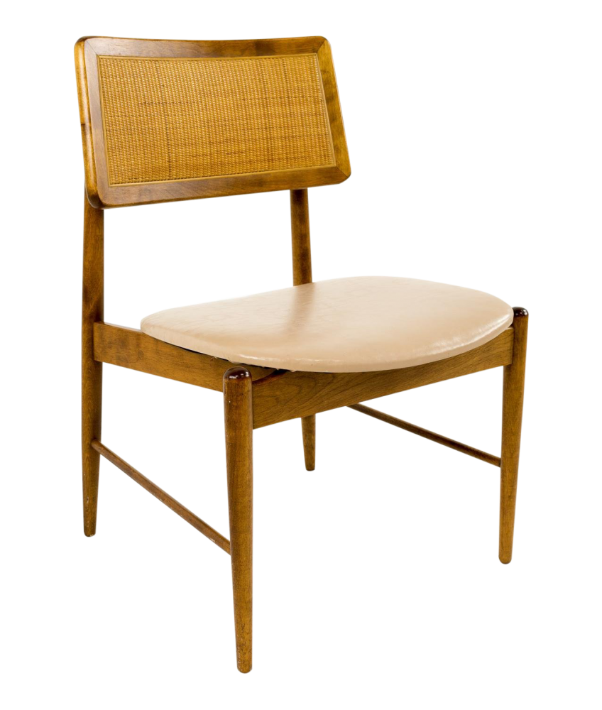 Conant Ball Caned Back Dining or Desk Chair