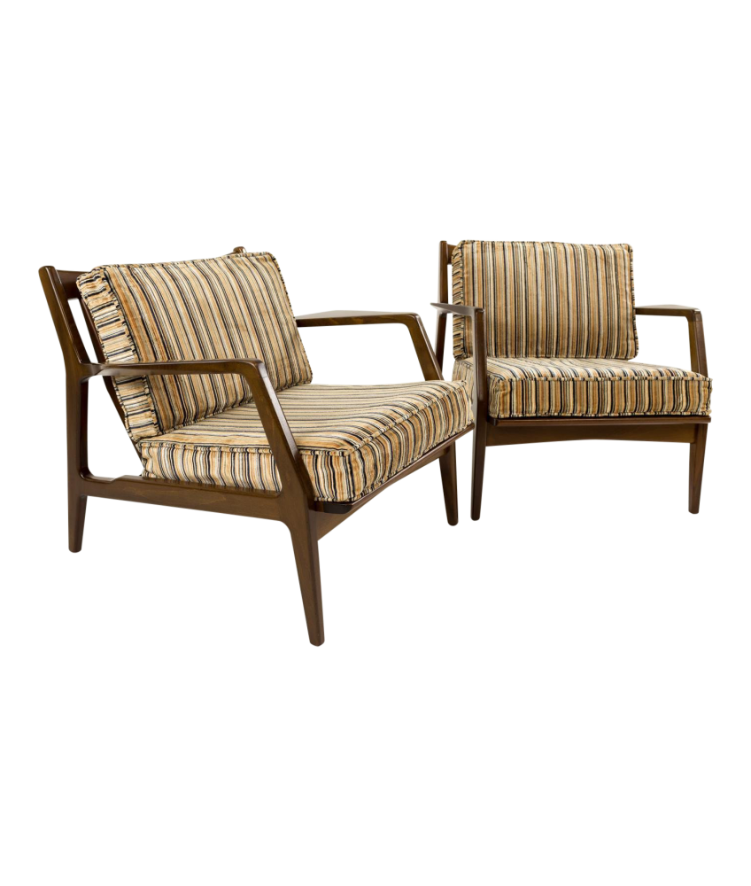 Brilliant Kofod Larsen For Selig Danish Lounge Chairs Pair Download Free Architecture Designs Scobabritishbridgeorg