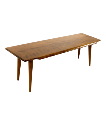 Russel Wright Style Mid-Century Bench Coffee Table
