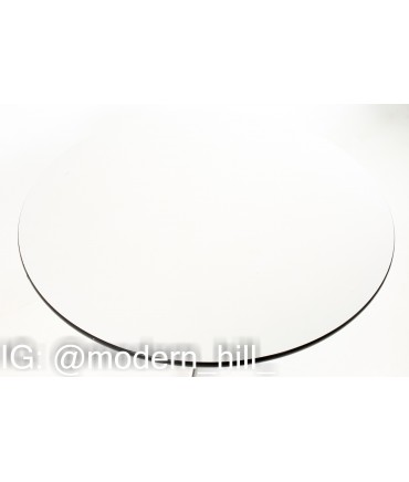 1960s Charles and Ray Eames for Herman Miller Mid Century Round White Laminate Dining Table