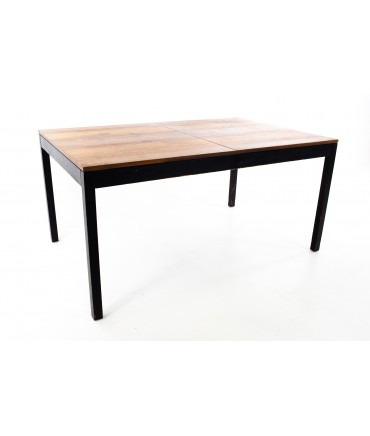 Milo Baughman For Directional Mid Century Rosewood Walnut and Oak Parsons Table
