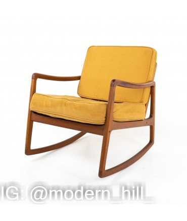 Ole Wanscher for France and Son Mid Century Teak Rocking Chair
