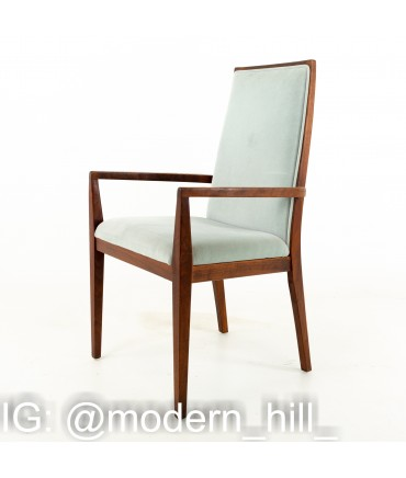 Merton Gershun for Dillingham Esprit Mid Century Walnut Dining Chairs - Set of 6