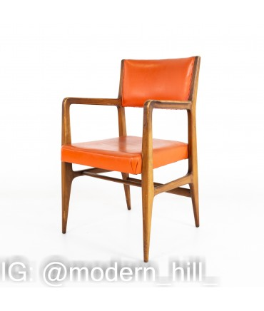 Kofod Larsen for Selig Style Mid Century Walnut Dining Chairs - Set of 6