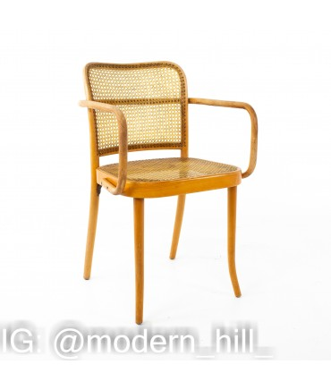 Salvatore Leone Thonet Style Mid Century Bentwood and Cane Dining Chairs - Set of 6