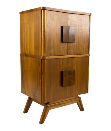 Mid-Century Small Console Bar Cabinet