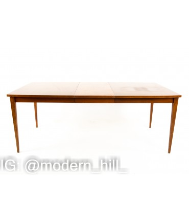 American of Martinsville Mid Century Walnut 10 Person Dining Table