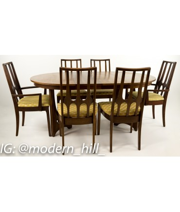 Broyhill Brasilia Round Dining Table and Dining Chairs - Set of 6