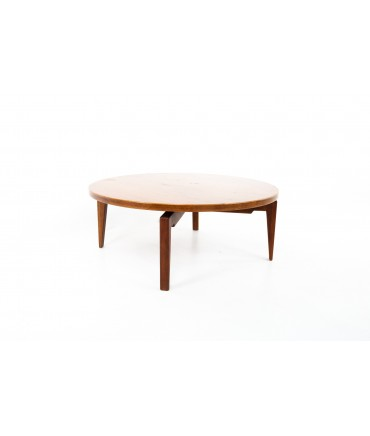 Jens Risom Mid Century Round Lazy Susan Coffee Table