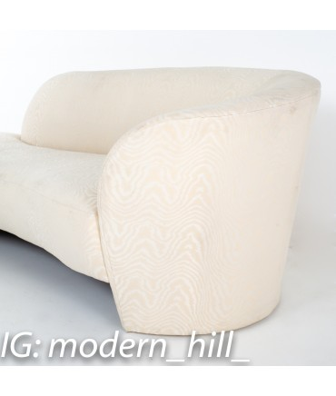 Lower right close up view of Vladimir Kagan Mid Century Cloud Chaise Sofa