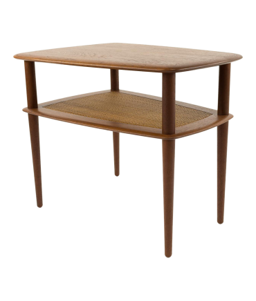 Peter Hvidt Mid-Century Modern Two-Tier Side End Table
