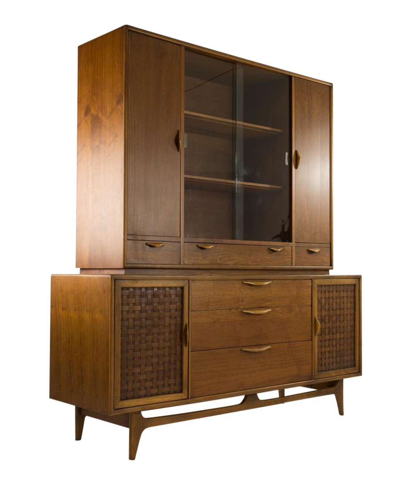 Lane Perception Mid-Century Credenza Buffet with Optional Hutch