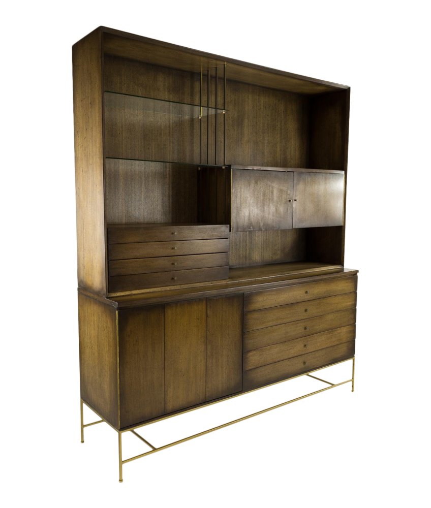 Paul McCobb for Calvin Brass Base Buffet Sideboard Credenza