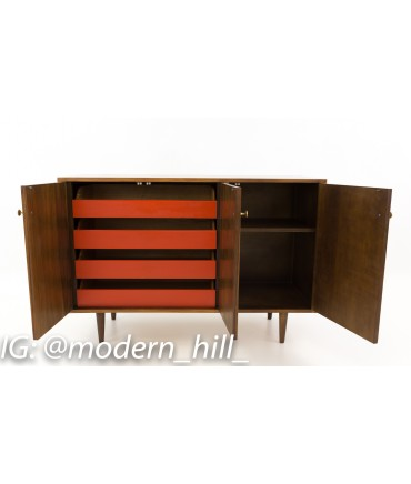 Milo Baughman for Glenn of California Small Media Console Sideboard Credenza