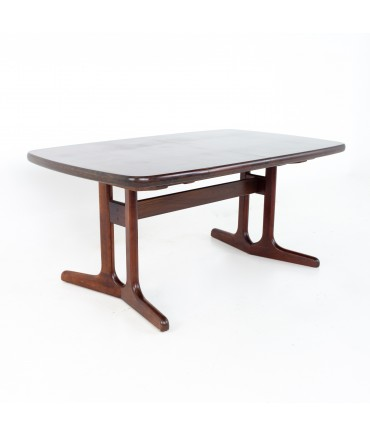 Mid Century Rosewood Oval Dining Table