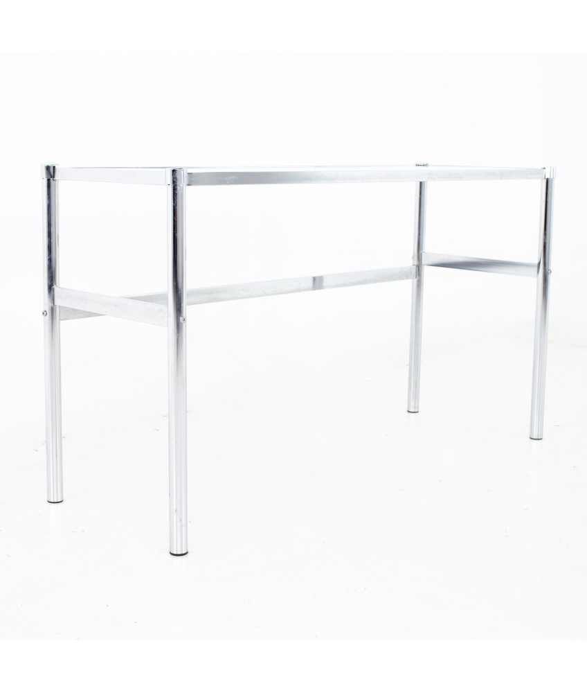 Mid Century Chrome and Glass Console Table