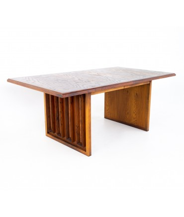 Dillingham Mid Century Pecky Cypress Dining Table