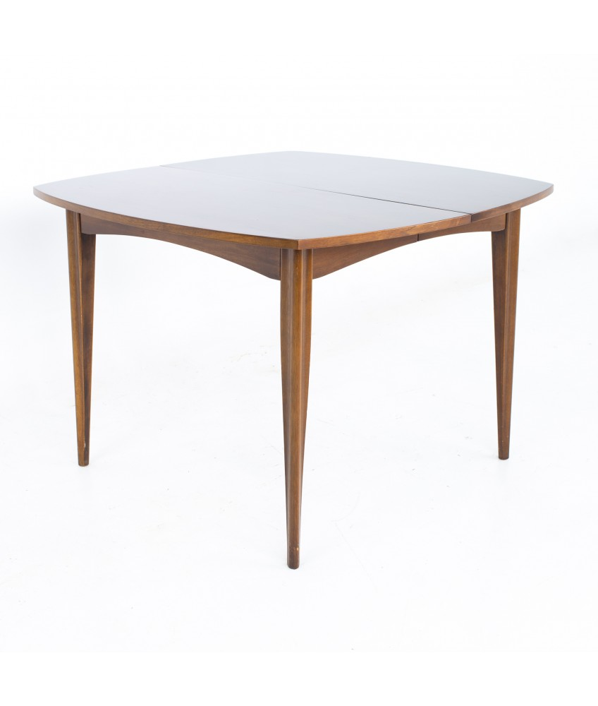Broyhill Emphasis Mid Century Walnut Surfboard Expanding Dining Table