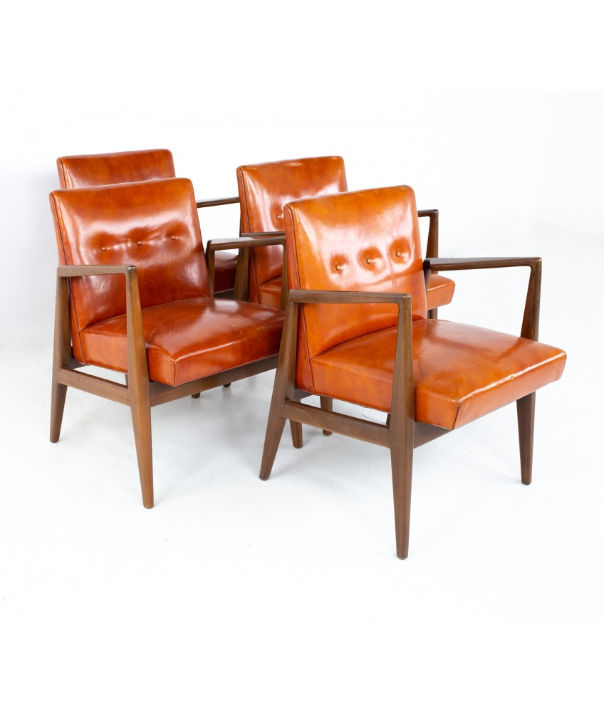 Jens Risom Mid Century Lounge Chairs - Set of 4