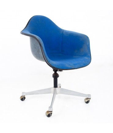 Charles and Ray Eames for Herman Miller Mid Century Blue Shell Office Chair