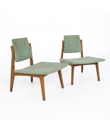 Whyteville Chair Company Mid Century Low Slipper Occasional Lounge Chairs - A Pair