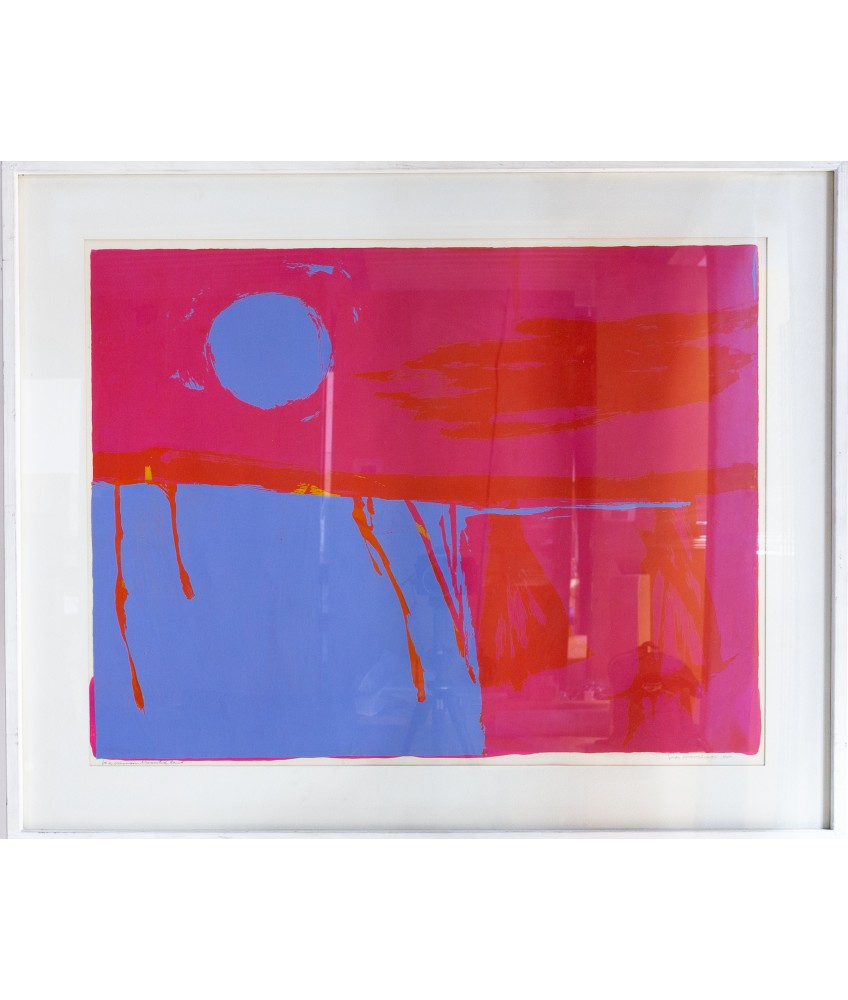 """Corita Kent  """"Be A Crimson-Crucified"""" Limited Edition 1963 Lithograph"""