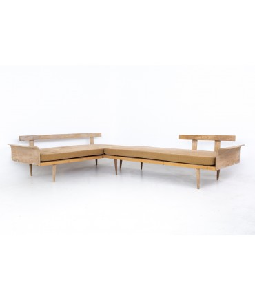 Mid Century Bentwood Sectional Daybed Sofa