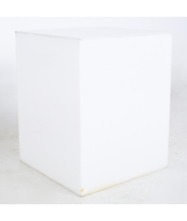 Mid Century Frosted Acrylic Cube Side End Table