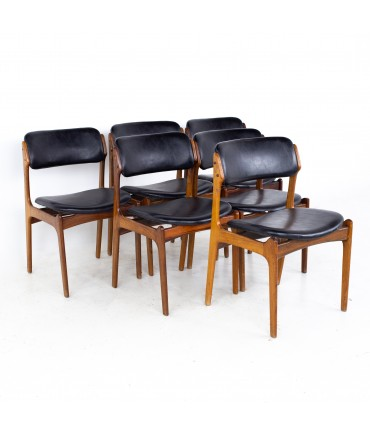 Erik Buch Mid Century Rosewood Dining Chairs - Set of 6
