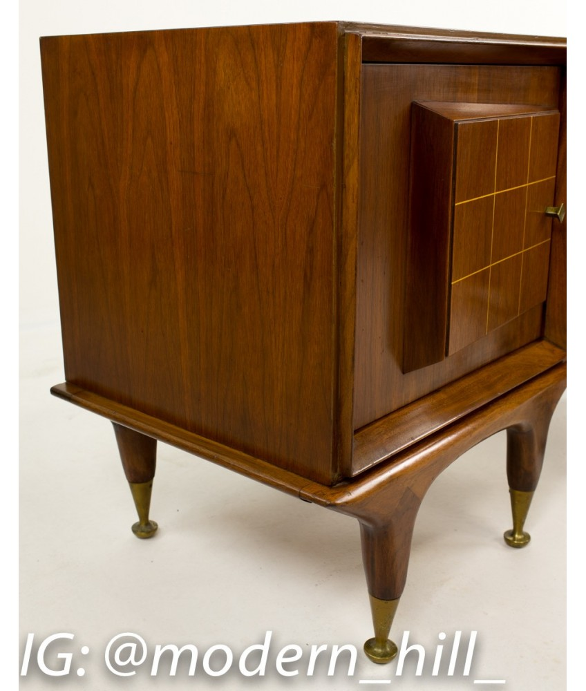 mid century side tables nightstand american martinsville