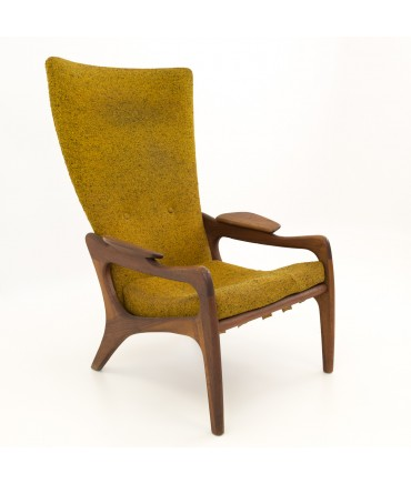 Adrian Pearsall for Craft & Associates Highback Wing Lounge Chair